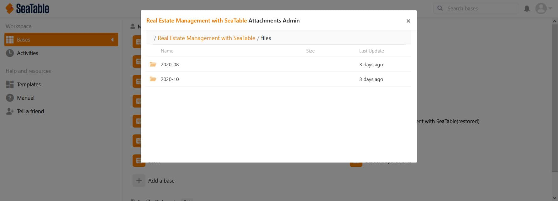 Asset management in SeaTable 1.6