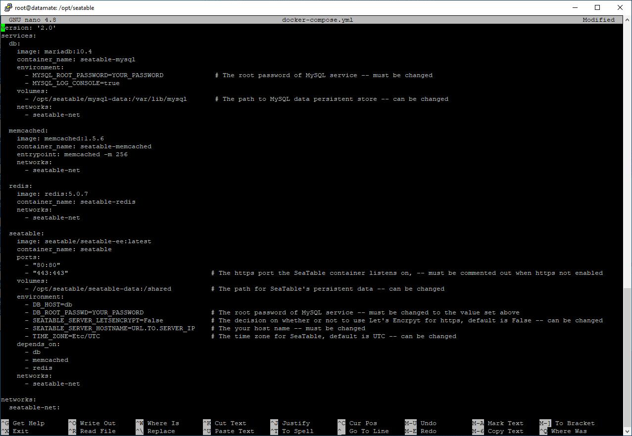 docker-compose.yml file