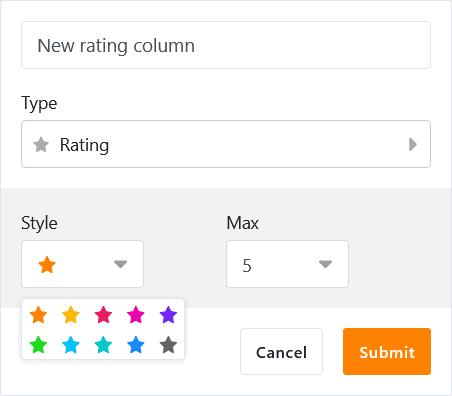 New column type Rating