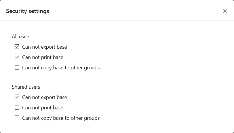 New security settings