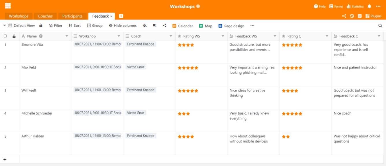 Nutzen Sie das SeaTable Webformular, um Feedback von Ihren Mitarbeitern zu sammeln