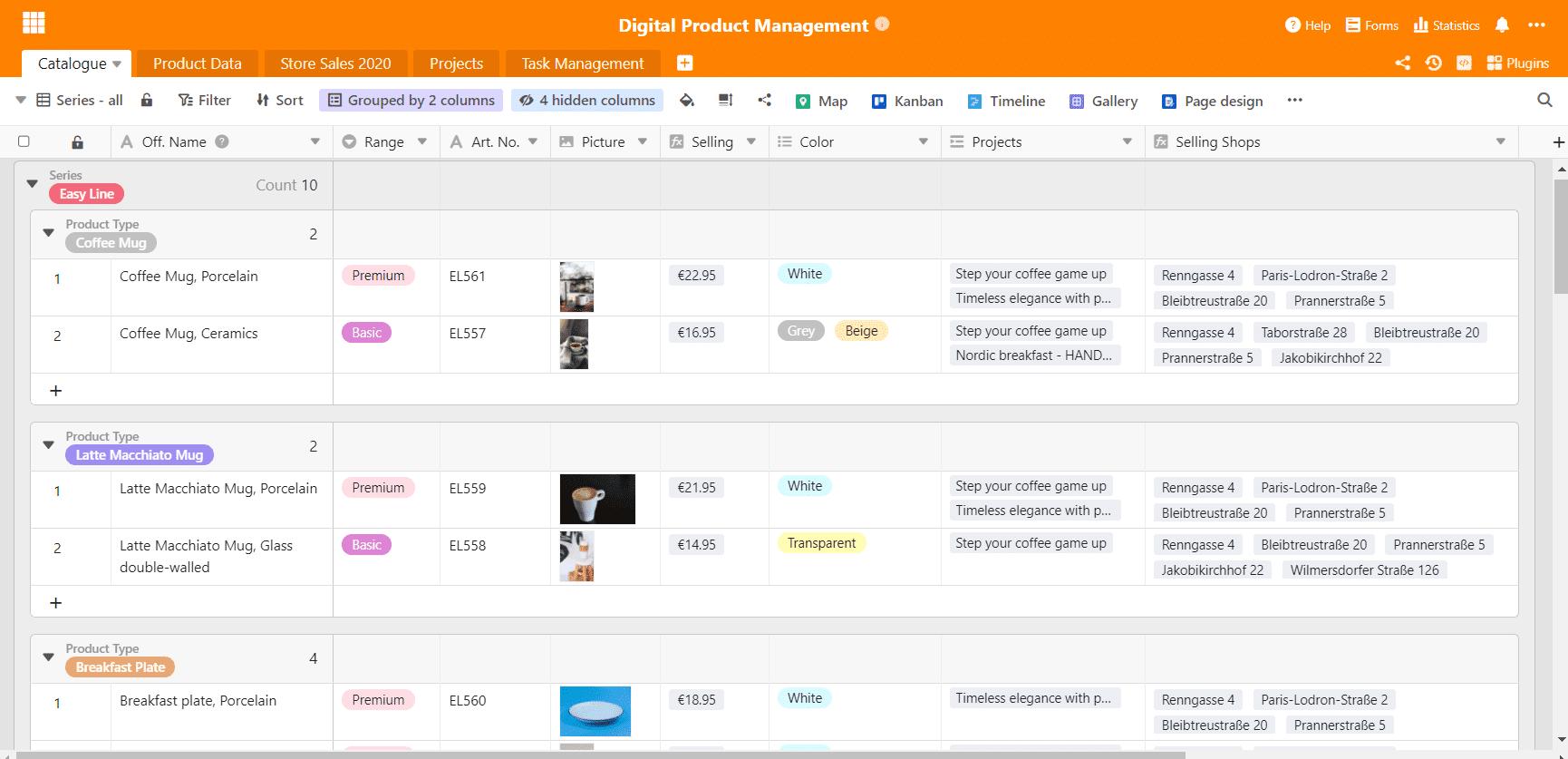 Produktkatalog für digitales Produktmanagement
