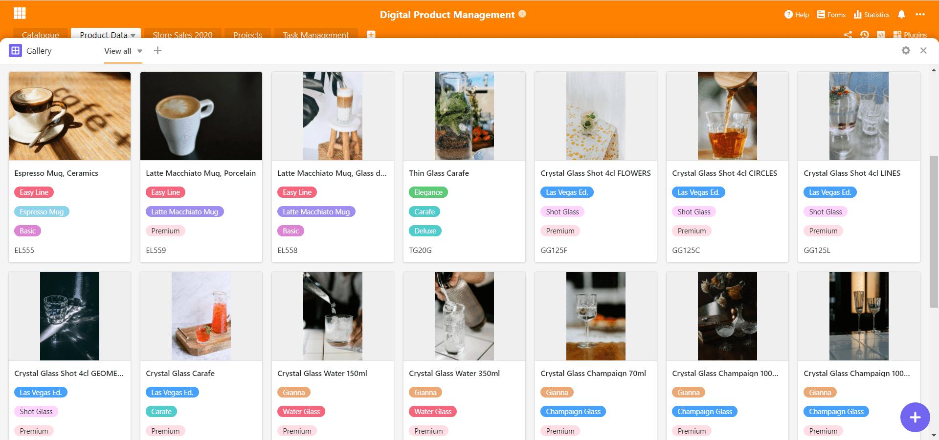Produktbilder-Galerie für digitales Produktmanagement